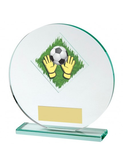 15cm Jade Glass Goalkeeper Award