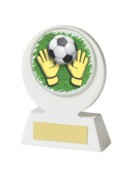 11cm White Resin Goalkeeper Award