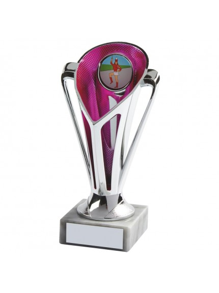 Silver & Pink Plastic Trophy Cup - Available in 4 sizes