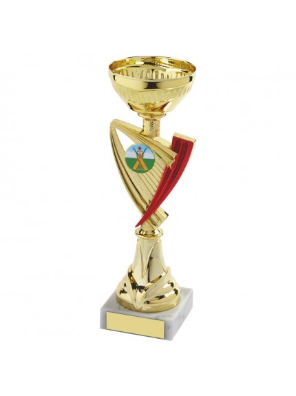 Gold & Red Trophy Cup - Available in 6 sizes