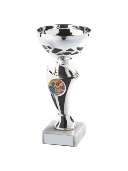 Silver & Black Trophy Cup - Available in 5 sizes