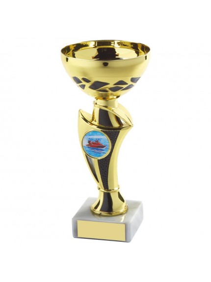Gold & Black Trophy Cup - Available in 5 sizes