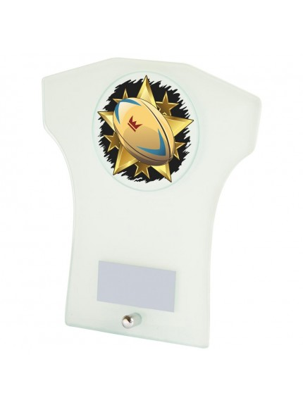 White Glass Shirt Rugby Award - Available in 3 sizes