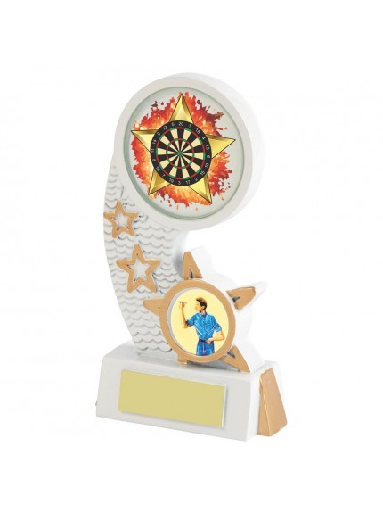 White Resin Darts Award - Available in 5 sizes