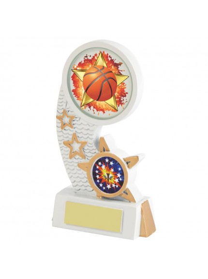 White Resin Basketball Award - Available in 5 sizes