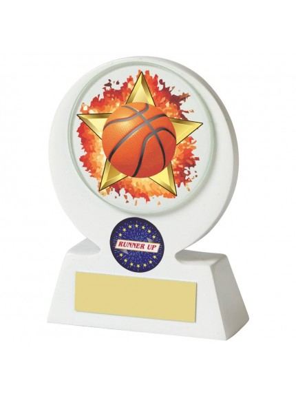 White Resin Basketball Award - Available in 2 sizes