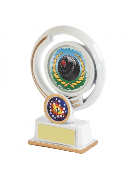 White Resin Lawn Bowls Award - Available in 4 sizes