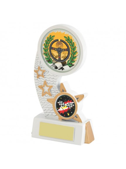 White Resin Motor Sport Award - Available in 5 sizes