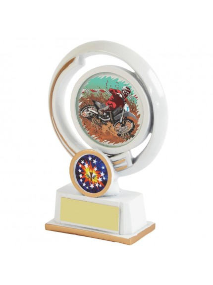 White Resin Motor Sport Award - Available in 4 sizes