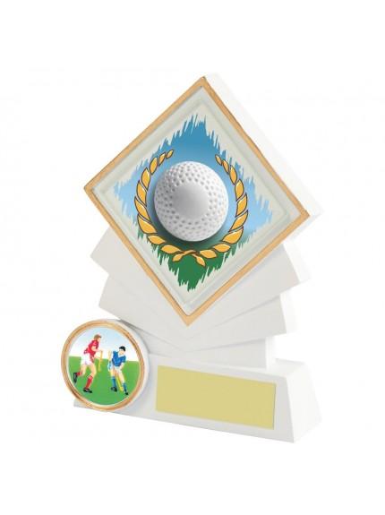 White Resin Diamond Hockey Award - Available in 3 sizes