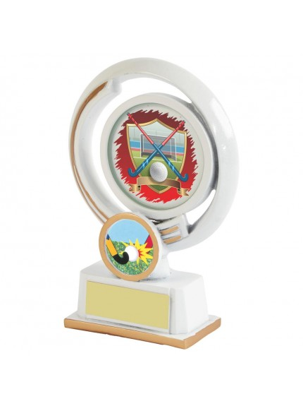White Resin Hockey Award - Available in 4 sizes