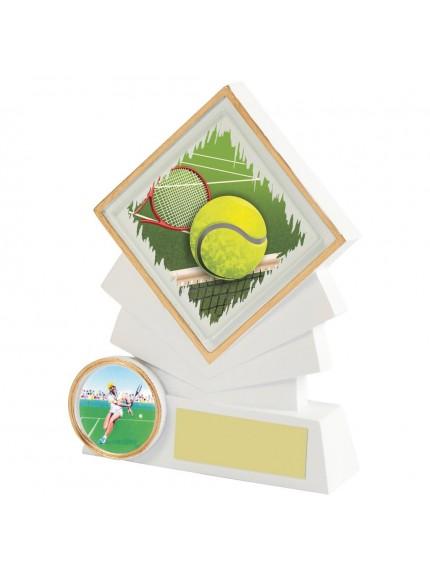 White Resin Diamond Tennis Award - Available in 3 sizes