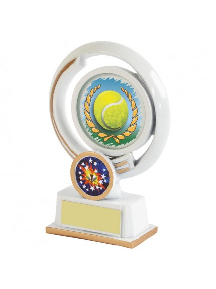 White Resin Tennis Award - Available in 4 sizes