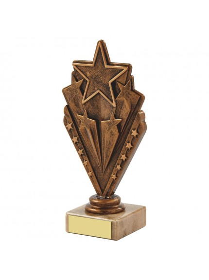 Gold Rising Star Achievment Trophy - Available in 3 sizes