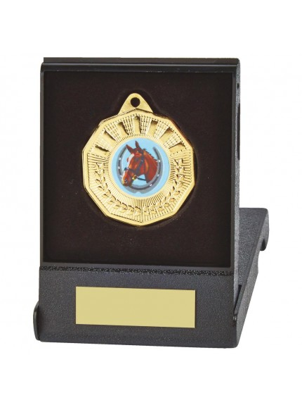 50mm Decagon Medal in Case - Available in Gold, Silver and Bronze