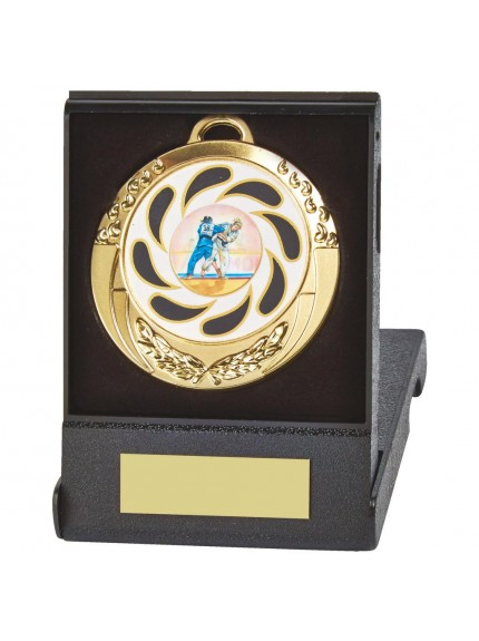 70mm Sports Medal in Case - Available in Gold, Silver and Bronze