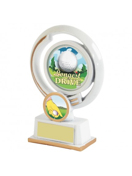 13cm White Resin Golf Longest Drive Award