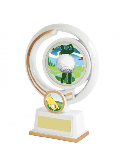 White Resin Men's Golf Award - Available in 3 sizes