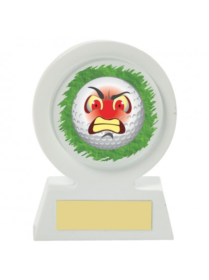 11cm White Resin Golf Collectable - Angry