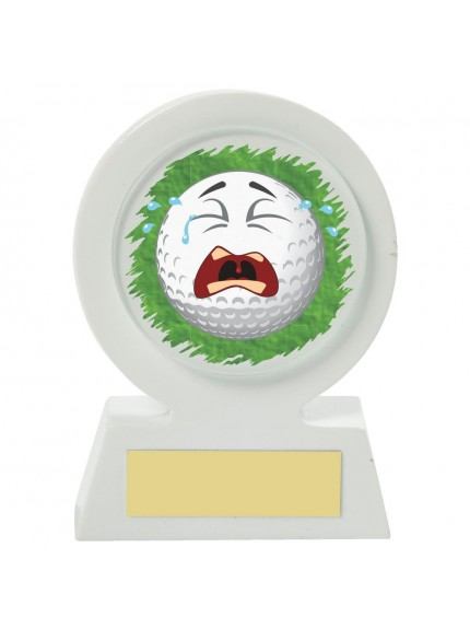 11cm White Resin Golf Collectable - Crying