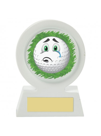 11cm White Resin Golf Collectable - Sad
