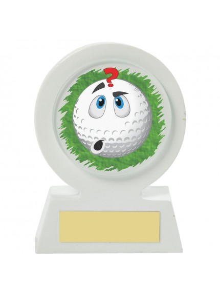 11cm White Resin Golf Collectable - Confused