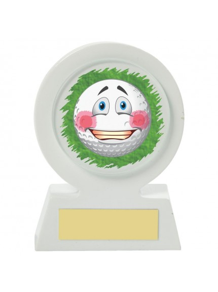 11cm White Resin Golf Collectable - Embarrassed