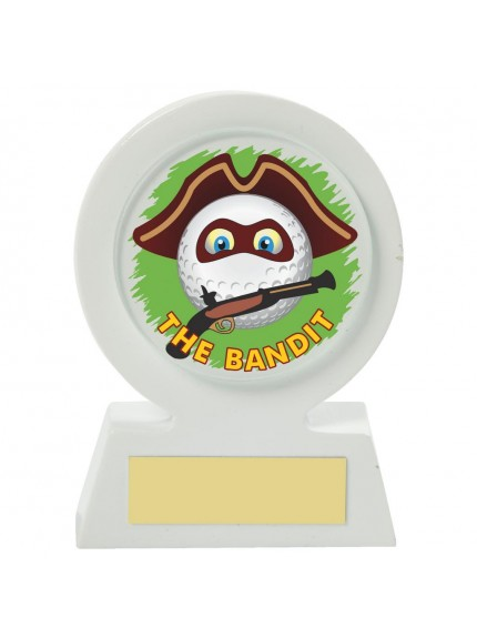 11cm White Resin Golf Collectable - Bandit
