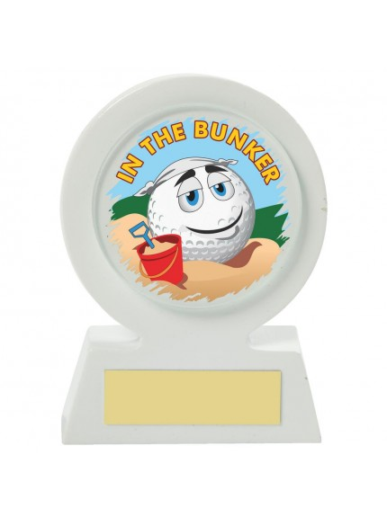 11cm White Resin Golf Collectable - Bunker