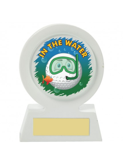11cm White Resin Golf Collectable - Water