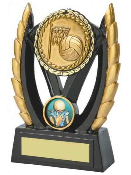 Black & Gold Netball Resin Award