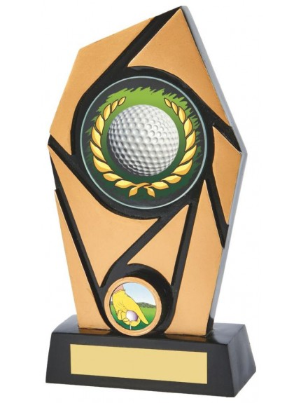 Resin Gold/Black Golf Award