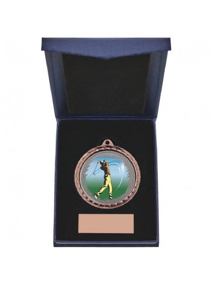 Golf (M) Insert Medal in Presentation Case - 3 Colours