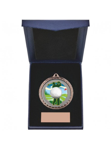 Golf Driver Medal in Presentation Case - 3 Colours