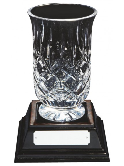 Lead Crystal Vase Award with Base