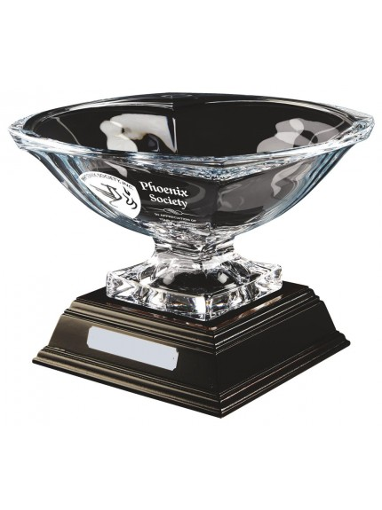 23cm Bohemia Crystalite Bowl Award with Base