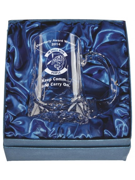 1/2 Pint Crystal Tankard In Presentation Case