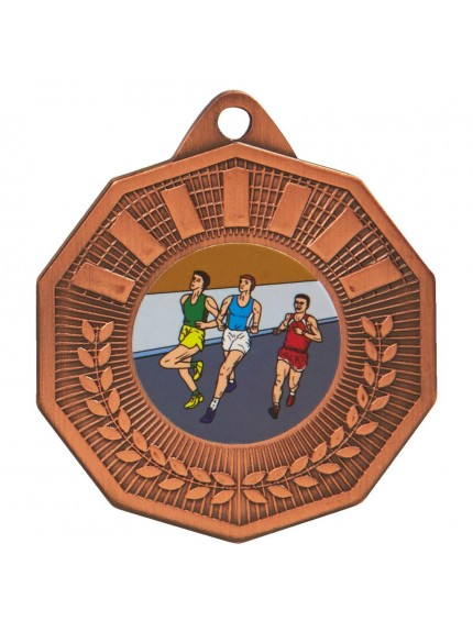50mm Decagon Sports Medal - Available in Gold, Silver and Bronze