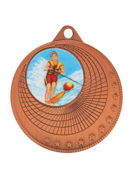 50mm Circles Sports Medal - Available in Gold, Silver and Bronze