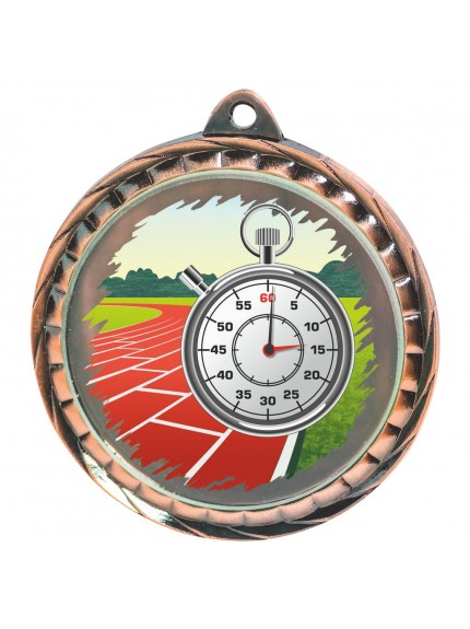 60mm Colour Print Running Medal - Available in Gold, Silver and Bronze