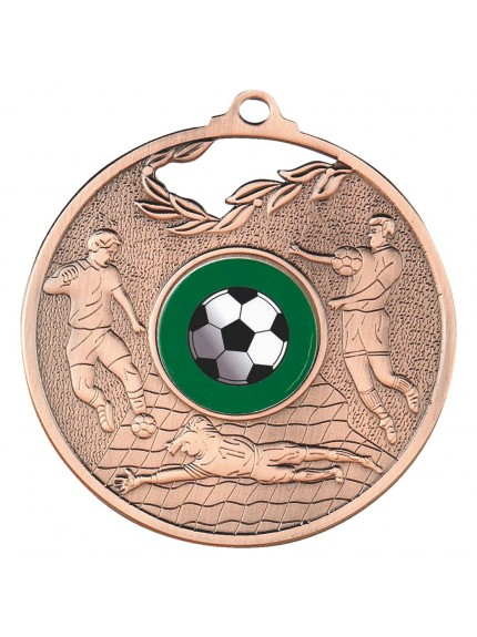 70mm Men's Football Medal - Available in Gold, Silver and Bronze