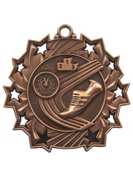 6cm Stars Athletics Medal