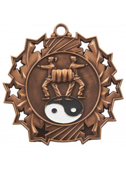 6cm Stars Martial Arts Medal