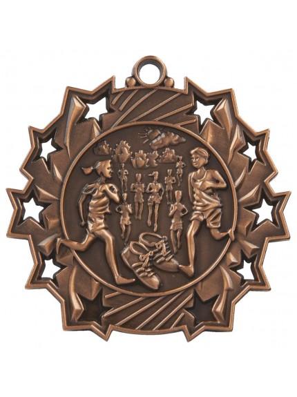 6cm Stars Running Medal