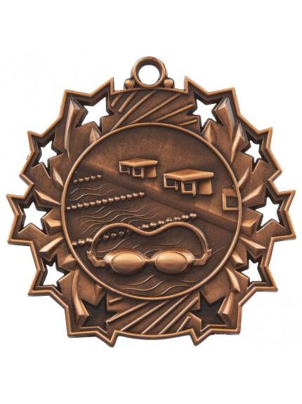 6cm Stars Swimming Medal