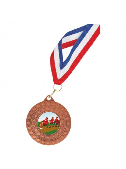 50mm Sports Medal with 22mm Ribbon - Available in Gold, Silver and Bronze