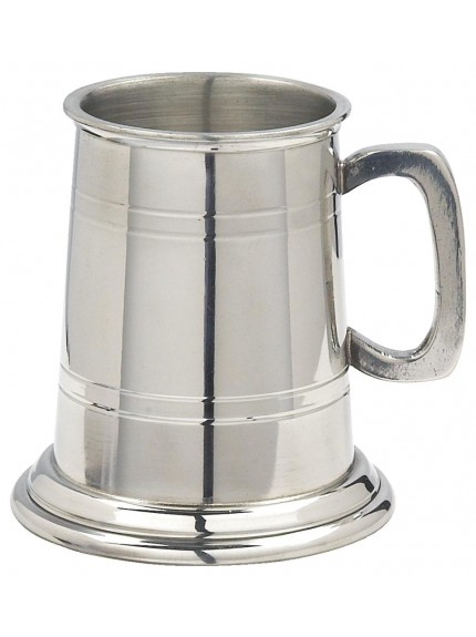 Pint English Pewter Tankard
