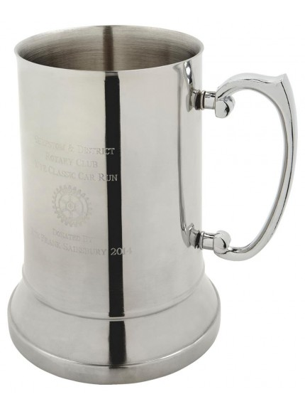 One Pint Stainless Steel Tankard In Presentation Case In Clear Stainless Steel