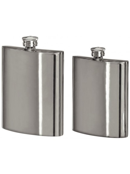 6oz Pewter Hip Flask In Silver
