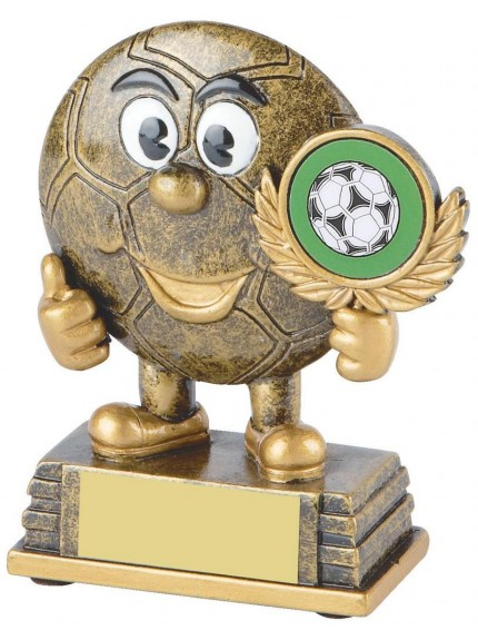 11cm Gold Resin Happy Winner Football Award